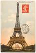 Fototapeten,eiffelturm,paris,berühmt,postkarte