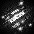 WEB TRAFFIC. Word cloud concept illustration.