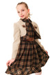 fashion little girl in studio