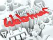 Webinar Concept on White Background.