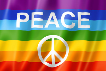 Rainbow peace flag