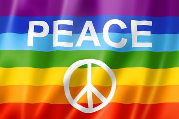 Rainbow peace flag