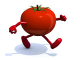 tomato that runs, 3d illustration