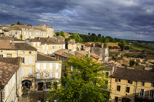 Saint-Emilion village panoramic view