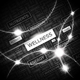 WELLNESS. Word cloud concept illustration.