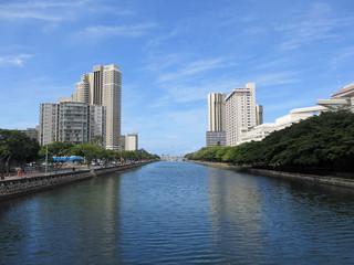 Ala Wai Canel in Waikiki