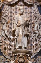 Palermo - Baroque statue of prophet Isaiah - Monreale