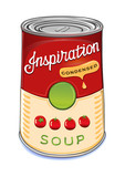 Fototapety Can of condensed tomato soup Inspiration