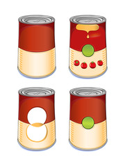 Template tin can tomato soup