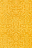 Floral gold wallpaper texture background