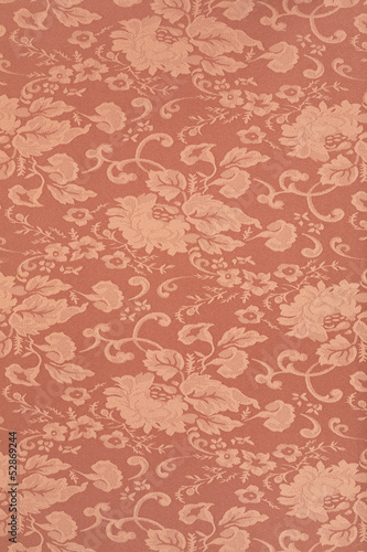 Floral brown wallpaper texture background