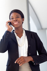 African-American Woman on cell phone