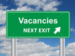 """VACANCIES"" Signpost (job-seeking search careers job offers)"