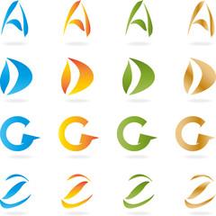 Buchstabe, A, D, G, Z, Logo, Alphabet