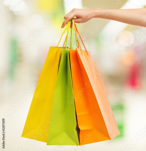 picture of multi colored shopping bags