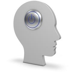 Kopf mit Powerschalter