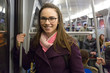 Young Businesswoman in the Metro