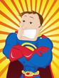 Super Man Hero Dad. Happy Father Day