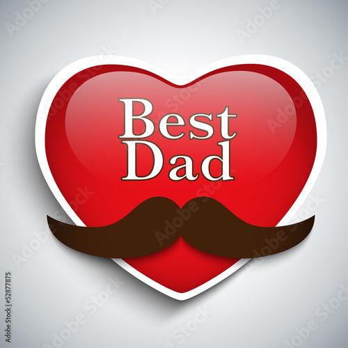 Happy Father Day Mustache Love