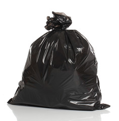 Black garbage bag