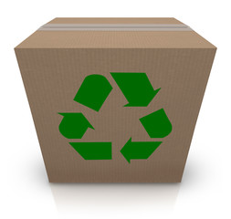 Recycle Symbol Cardboard Box Earth Friendly Environmental Shippi