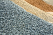 canvas print picture - Kies, Sand, Splitt, Gesteinskörnung, Rohstoffe