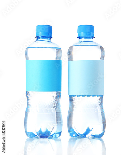 Bottles of water isolated on white