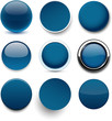 Round dark blue icons.