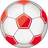 Fußball rot-weiß