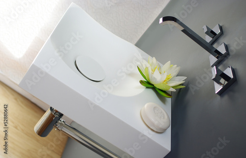 contemporary Corian sink