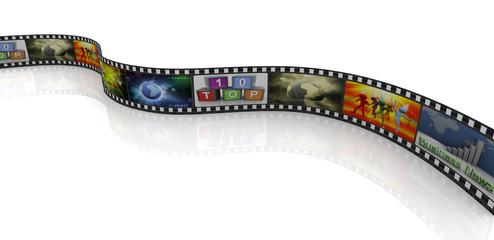 3d movie reel