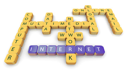 Crossword of internet