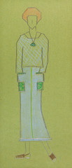 sketch of knitted women wear
