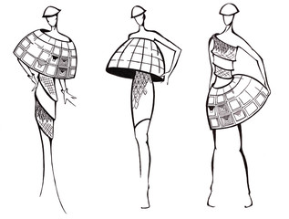 design of dresses based on architecture dome