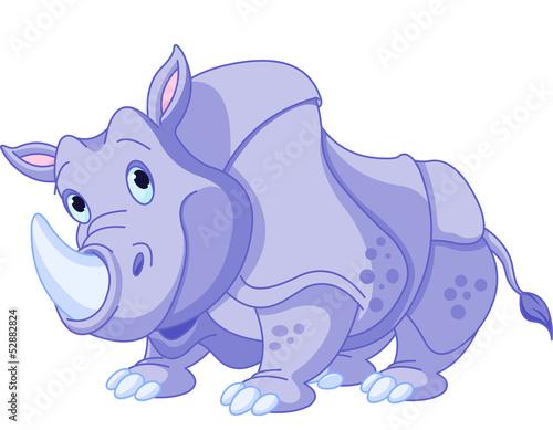 Cartoon rhino