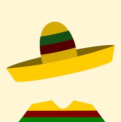 faceless man wearing sombrero