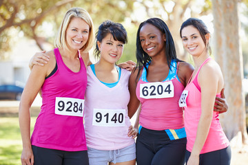 Group Of Female Runners Before Race