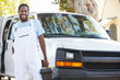 Portrait Of Repairman With Van