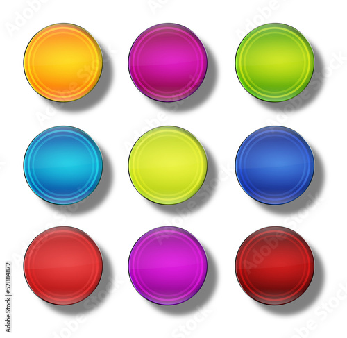 Web Buttons glossy- round #13