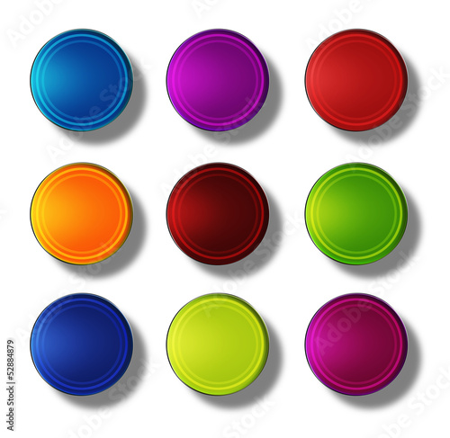 Web Buttons glossy- round #12
