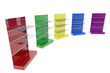 Colorful furniture shelves