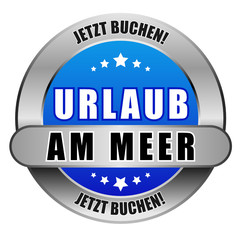 5 Star Button blau URLAUB AM MEER JB JB