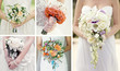 Collage wedding bouquets