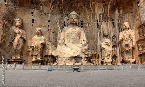 Papiers peints Statue Longmen Grottoes with Buddha's figures
