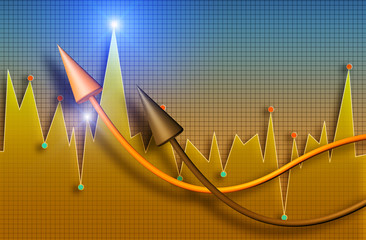 Business market diagram down