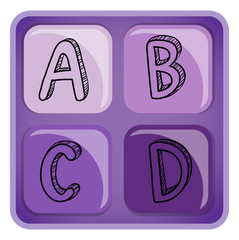 A square-shaped alphabet letters