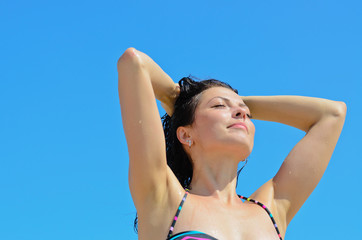 Girl enjoying the sun
