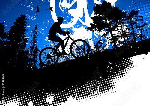 Mountain bike and nature