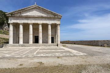 Tempel in der neuen Festung in Korfu Stadt