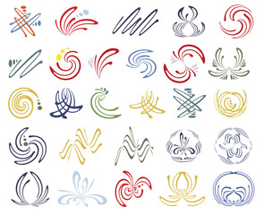 Vector set of esoteric design elements
